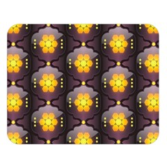 Pattern Background Yellow Bright Double Sided Flano Blanket (Large)