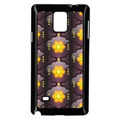 Pattern Background Yellow Bright Samsung Galaxy Note 4 Case (Black)