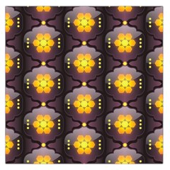 Pattern Background Yellow Bright Large Satin Scarf (Square)