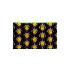 Pattern Background Yellow Bright Cosmetic Bag (XS)