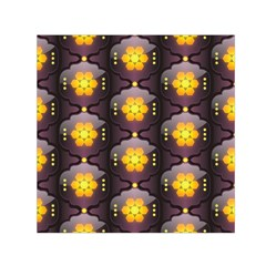 Pattern Background Yellow Bright Small Satin Scarf (Square)