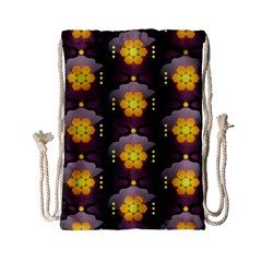 Pattern Background Yellow Bright Drawstring Bag (Small)