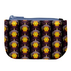Pattern Background Yellow Bright Large Coin Purse