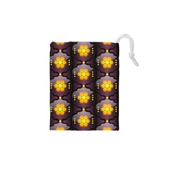 Pattern Background Yellow Bright Drawstring Pouches (XS)