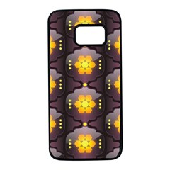 Pattern Background Yellow Bright Samsung Galaxy S7 Black Seamless Case