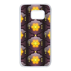 Pattern Background Yellow Bright Samsung Galaxy S7 White Seamless Case