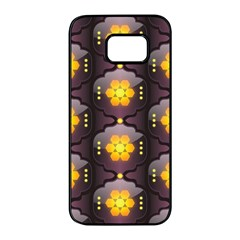 Pattern Background Yellow Bright Samsung Galaxy S7 edge Black Seamless Case