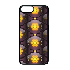 Pattern Background Yellow Bright Apple iPhone 7 Plus Seamless Case (Black)