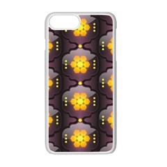 Pattern Background Yellow Bright Apple iPhone 7 Plus Seamless Case (White)