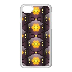 Pattern Background Yellow Bright Apple iPhone 7 Seamless Case (White)