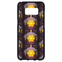 Pattern Background Yellow Bright Samsung Galaxy S8 Black Seamless Case