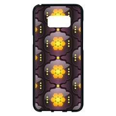 Pattern Background Yellow Bright Samsung Galaxy S8 Plus Black Seamless Case