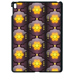 Pattern Background Yellow Bright Apple Ipad Pro 9 7   Black Seamless Case