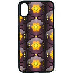Pattern Background Yellow Bright Apple iPhone X Seamless Case (Black)