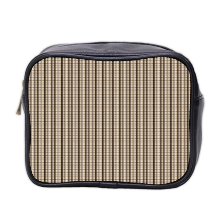 Pattern Background Stripes Karos Mini Toiletries Bag 2-Side