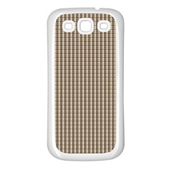 Pattern Background Stripes Karos Samsung Galaxy S3 Back Case (white) by Sapixe