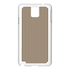 Pattern Background Stripes Karos Samsung Galaxy Note 3 N9005 Case (white) by Sapixe