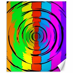 Pattern Colorful Glass Distortion Canvas 20  X 24   by Sapixe