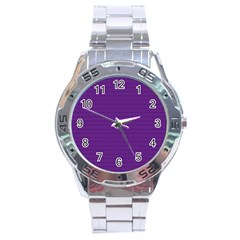 Pattern Violet Purple Background Stainless Steel Analogue Watch by Sapixe