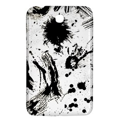 Pattern Color Painting Dab Black Samsung Galaxy Tab 3 (7 ) P3200 Hardshell Case  by Sapixe