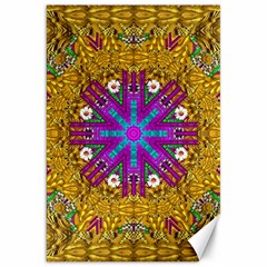 Golden Retro Medival Festive Fantasy Nature Canvas 20  X 30   by pepitasart