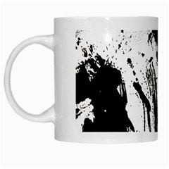Pattern Color Painting Dab Black White Mugs