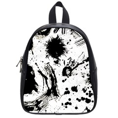 Pattern Color Painting Dab Black School Bag (small)
