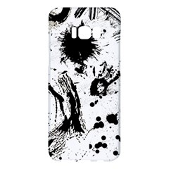 Pattern Color Painting Dab Black Samsung Galaxy S8 Plus Hardshell Case