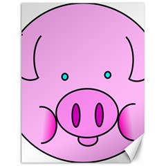 Pink Pig Christmas Xmas Stuffed Animal Canvas 12  X 16   by Sapixe