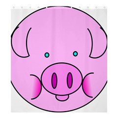 Pink Pig Christmas Xmas Stuffed Animal Shower Curtain 66  X 72  (large)  by Sapixe