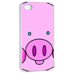 Pink Pig Christmas Xmas Stuffed Animal Apple Iphone 4/4s Seamless Case (white) by Sapixe