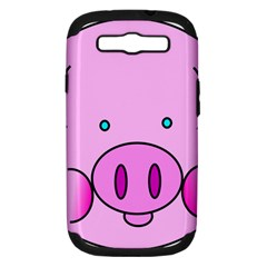 Pink Pig Christmas Xmas Stuffed Animal Samsung Galaxy S Iii Hardshell Case (pc+silicone) by Sapixe