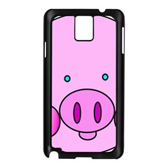 Pink Pig Christmas Xmas Stuffed Animal Samsung Galaxy Note 3 N9005 Case (black)