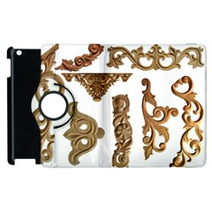 Pattern Motif Decor Apple Ipad 3/4 Flip 360 Case
