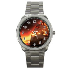Pirate Ship Caribbean Sport Metal Watch by Sapixe