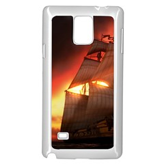 Pirate Ship Caribbean Samsung Galaxy Note 4 Case (white)