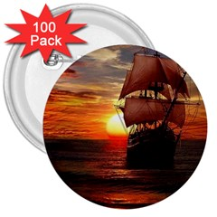 Pirate Ship 3  Buttons (100 Pack)