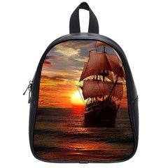 Pirate Ship School Bag (small) by Sapixe