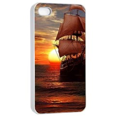 Pirate Ship Apple Iphone 4/4s Seamless Case (white)