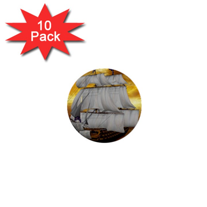 Pirate Ship 1  Mini Buttons (10 pack)
