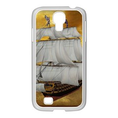 Pirate Ship Samsung Galaxy S4 I9500/ I9505 Case (white) by Sapixe