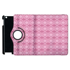 Pattern Pink Grid Pattern Apple Ipad 2 Flip 360 Case by Sapixe