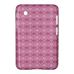 Pattern Pink Grid Pattern Samsung Galaxy Tab 2 (7 ) P3100 Hardshell Case  by Sapixe
