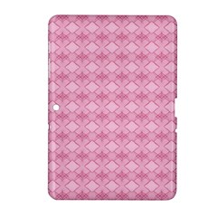 Pattern Pink Grid Pattern Samsung Galaxy Tab 2 (10 1 ) P5100 Hardshell Case  by Sapixe