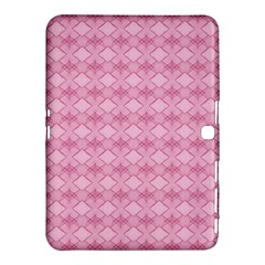 Pattern Pink Grid Pattern Samsung Galaxy Tab 4 (10 1 ) Hardshell Case  by Sapixe