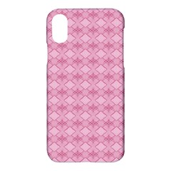Pattern Pink Grid Pattern Apple Iphone X Hardshell Case