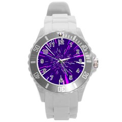 Space Trip 2 Round Plastic Sport Watch (l)