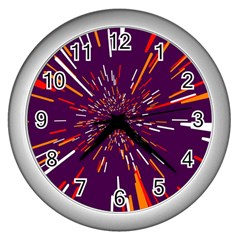 Space Trip 4 Wall Clocks (silver)  by jumpercat