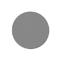 Triangulate Black And White Magnet 3  (round) by jumpercat