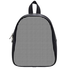 Triangulate Black And White School Bag (small) by jumpercat